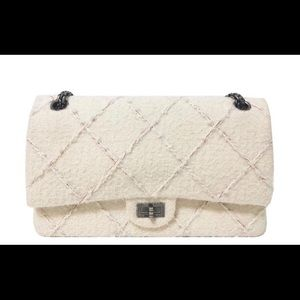 CHANEL 226 ivory wool reissue